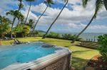 青い海と椰子の木のある家 ジャグジー